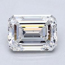 Pierre recommandée n°4: 2,08 Carat Emerald Cut