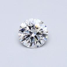 0.41 Carat 圆形 Diamond 理想 D VS1