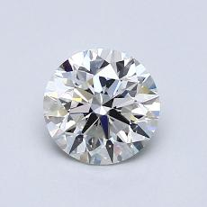 0.90-Carat Round Diamond Ideal G VVS2