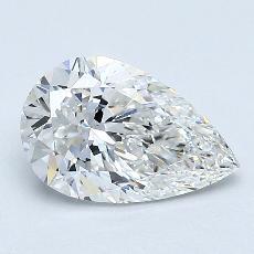 1.02 Carat 梨形 Diamond 非常好 F VS2