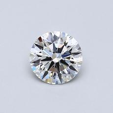 0.50-Carat Round Diamond ASTOR F VVS1
