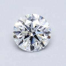 0.92-Carat Round Diamond Ideal D IF