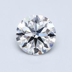 0.77 Carat 圆形 Diamond 理想 E VVS2