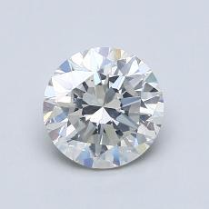 1.00 Carat Redondo Diamond Muy buena I SI2