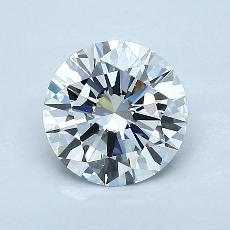 1.04 Carat 圆形 Diamond 理想 G VVS2