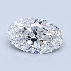 1.00-Carat Oval Diamond Very Good D SI1