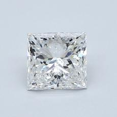 Pierre recommandée n°2: Diamant taille princesse 1,02 carat