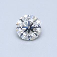 0.50 Carat 圆形 Diamond 良好 H SI1