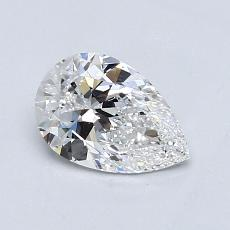 0.71-Carat Pear Diamond Very Good D VS1