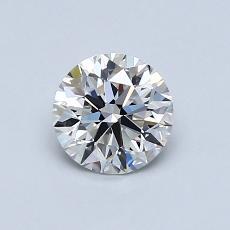 0.70 Carat 圆形 Diamond 理想 F IF