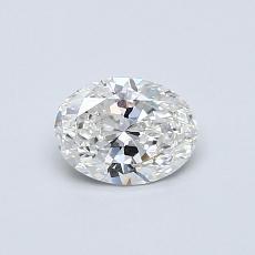 0.50 Carat 橢圓形 Diamond 非常好 G SI2