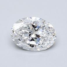 0.80-Carat Oval Diamond Very Good D VS2