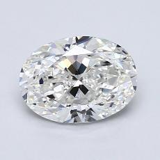 1.20 Carat 椭圆形 Diamond 非常好 G VS2
