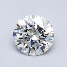 0.75-Carat Round Diamond Ideal F VVS2