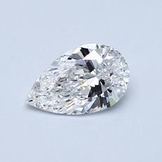0.54-Carat Pear Diamond Very Good E VS1
