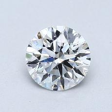 0.76 Carat 圓形 Diamond 理想 D VS2