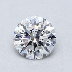 0.91-Carat Round Diamond Ideal D VS1