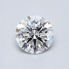 0,70-Carat Round Diamond Ideal E VVS2