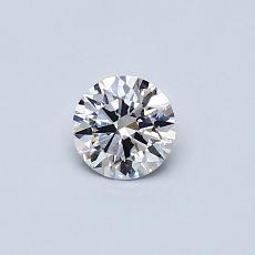 0.30 Carat 圆形 Diamond 理想 G VS2