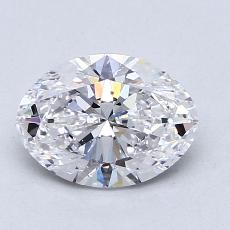 1.20-Carat Oval Diamond Very Good D SI1