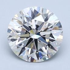 Pierre recommandée n°3: Diamant taille ronde 2,50 carat