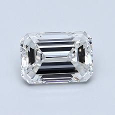 1,02 Carat Émeraude Diamond Très bonne G SI1