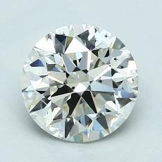 1.70 Carat 圓形 Diamond 理想 J VS2