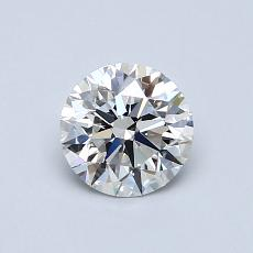 0.70-Carat Round Diamond Ideal F VVS2