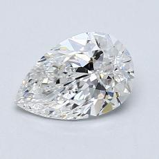 所選擇的鑽石: 1.02 克拉梨形鑽石