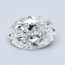 1.06 Carat Ovalado Diamond Muy buena D VS1