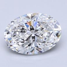 2.01-Carat Oval Diamond Very Good D VS2