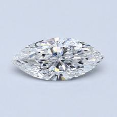 Piedra recomendada 4: Diamante de talla marquesa de 0.50 quilates