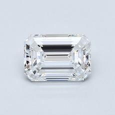 0.81-Carat Emerald Diamond Very Good D VVS2