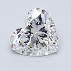 1,50-Carat Heart Diamond Very Good H VS2