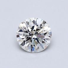 0,71-Carat Round Diamond Ideal H VS1