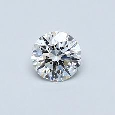 0.40 Carat 圓形 Diamond 理想 D VVS1