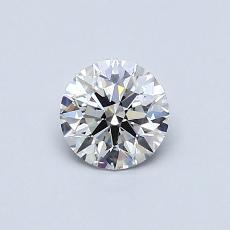0.50 Carat 圓形 Diamond 理想 H VVS2