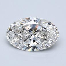 1.02 Carat 橢圓形 Diamond 非常好 H SI1