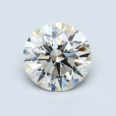 1.01-Carat Round Diamond Ideal K IF