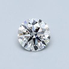 0.50 Carat 圆形 Diamond 理想 H IF