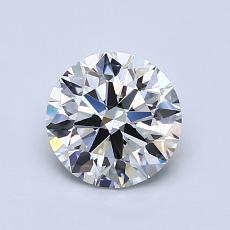 1.03 Carat ラウンド Diamond アイデアル G VVS2