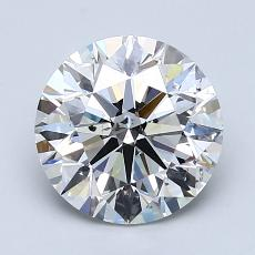 2.01-Carat Round Diamond Ideal G SI2