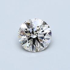 0,55-Carat Round Diamond Ideal K VVS2