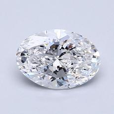 1.01-Carat Oval Diamond Very Good D VVS1