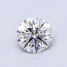 0.76-Carat Round Diamond Ideal G VVS2