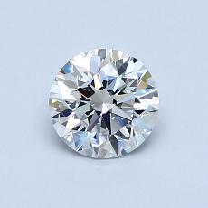 0,76-Carat Round Diamond Ideal E VVS2