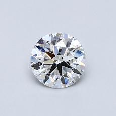 0.50 Carat 圆形 Diamond 理想 E VVS1