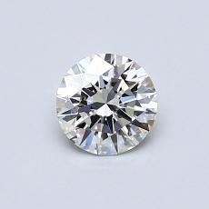 0,51-Carat Round Diamond Ideal H VVS1