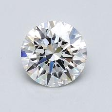 1.00-Carat Round Diamond Ideal F VVS1