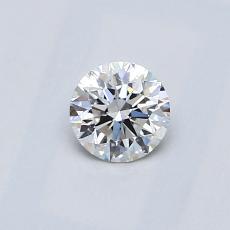 0.40 Carat 圆形 Diamond 理想 E VVS2